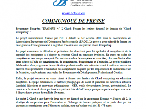 L-Cloud _French_Press Release